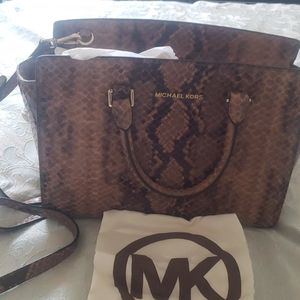 Michael Kors snake skin bag (Authentic)